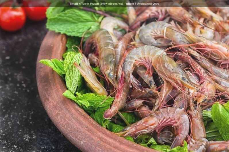 Small n Tasty Prawn (300+ pieces:kg) - Whole : Uncleaned