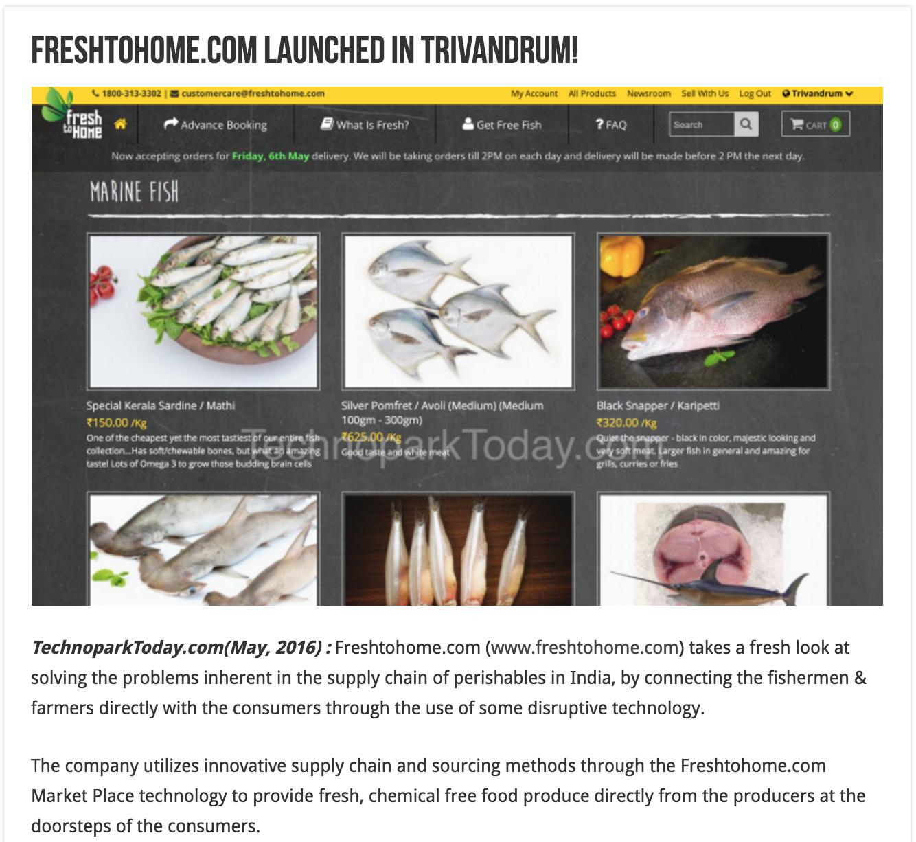 Technoparktoday Com May 2016 Freshtohome Com